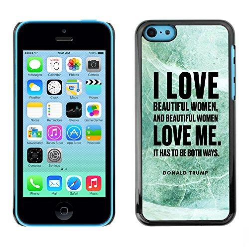 Print Motif Coque de protection Case Cover // Q04040537 Donald Trump marbre de jade // Apple iPhone 5C