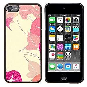 For Apple iPod Touch 6 6th Generation - Autumn Leaves Vignette Retro /Modelo de la piel protectora de la cubierta del caso/ - Super Marley Shop -