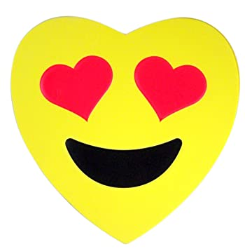 Amazon Com Emoji Emojicon Foam Heart Valentines Day Box With Gummy