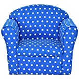 Costzon Kids Sofa Armrest Chair Couch Children Living Room Toddler Furniture (Dot, Blue)