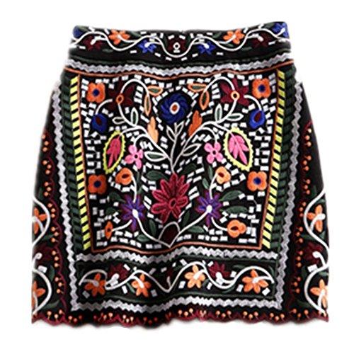 55a7580d1 en venta Media manga + falda bordada Moda Conjunto de ocio de las faldas  cortas