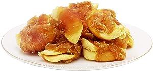 Pawant Dog Treats Chicken Wrapped Apple Dog Treats, Puppy Training Snacks, Gluten & Grain Free Rawhide Free Treats 1lb/454g
