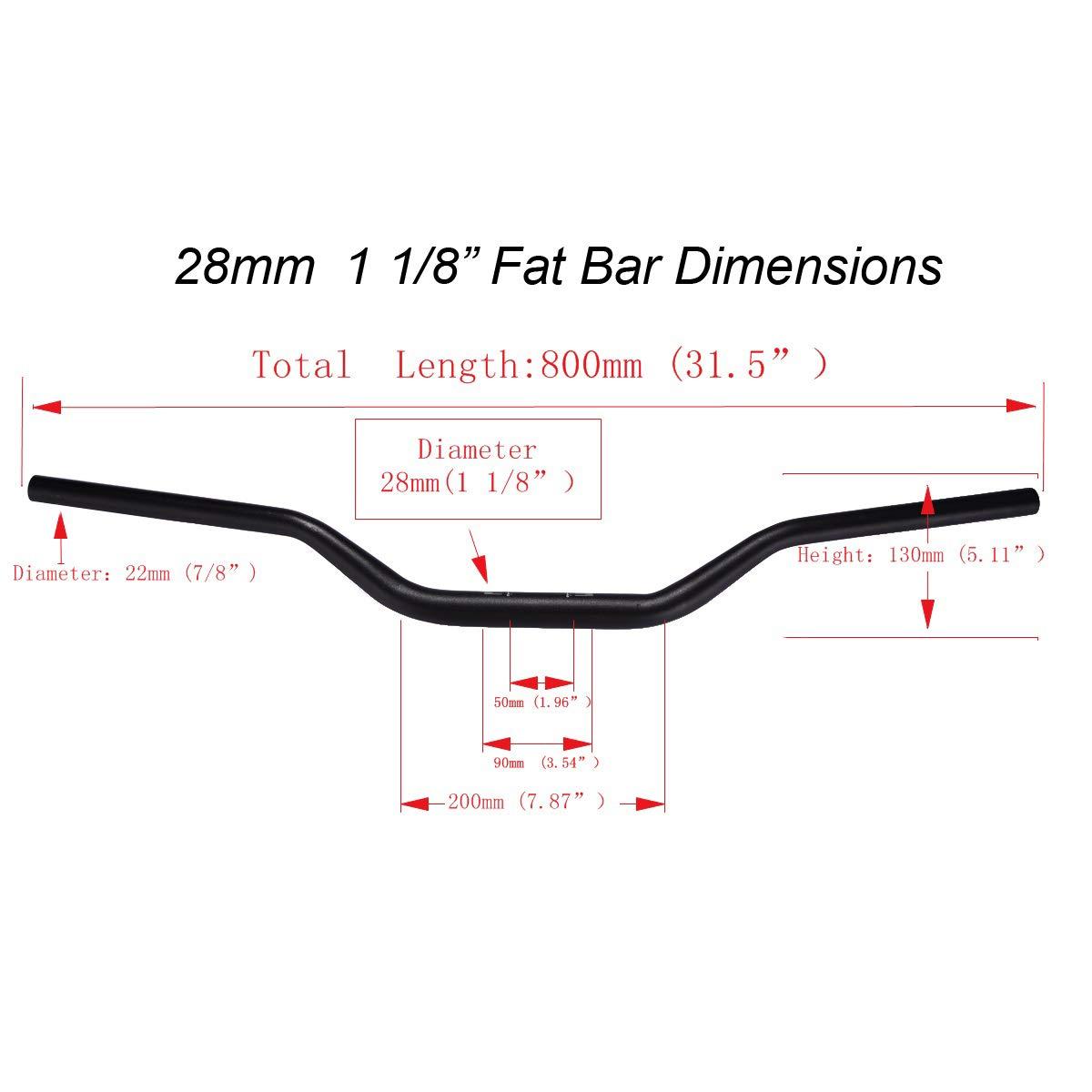 Il wingsmoto 28/mm 1/ /1//8/Fat Manubrio Manubrio di moto per Dirt Pit Bike CRF CR YZ WR KLX RM RMZ RMX Drz