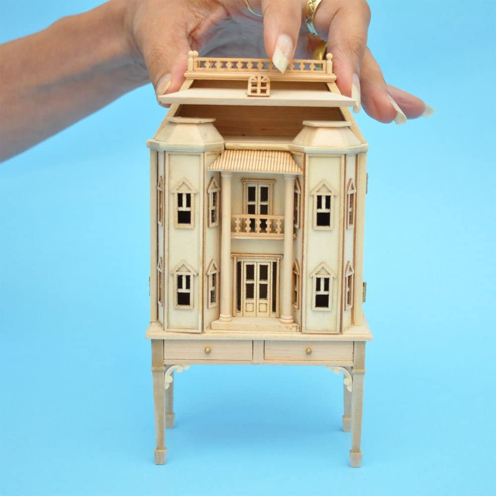 1//144th Scale Dollhouse Miniature Table Lamp Blue
