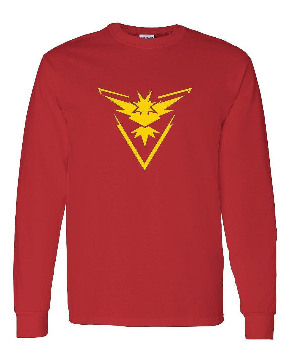 ae66539e Amazon.com: Pokemon Go Gym Team Instinct Yellow Youth Boys Girls Long Sleeve  Tee T-Shirt: Clothing