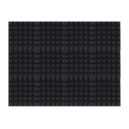 Ammoon 12 unidades Studio acústica espumas esponja paneles azulejos absorción aislamiento acústico de espuma ignífuga de