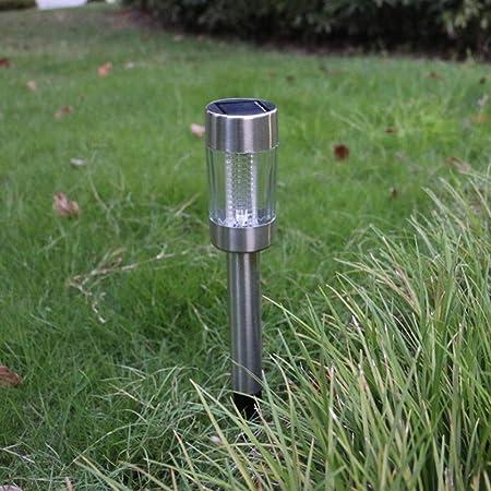 QTRT Control de luz Solar LED Césped Luz Jardín Tierra Luz Jardín Decoración Lámpara Acero inoxidable Impermeable, Proyectores de iluminación decorativos para paisajes, Luces para patios y patios, lin: Amazon.es: Hogar