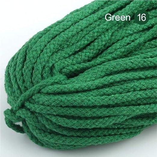 LLAAIT Cuerda de Cable Trenzado de Color de 5 mm Cuerdas de Cuerda ...
