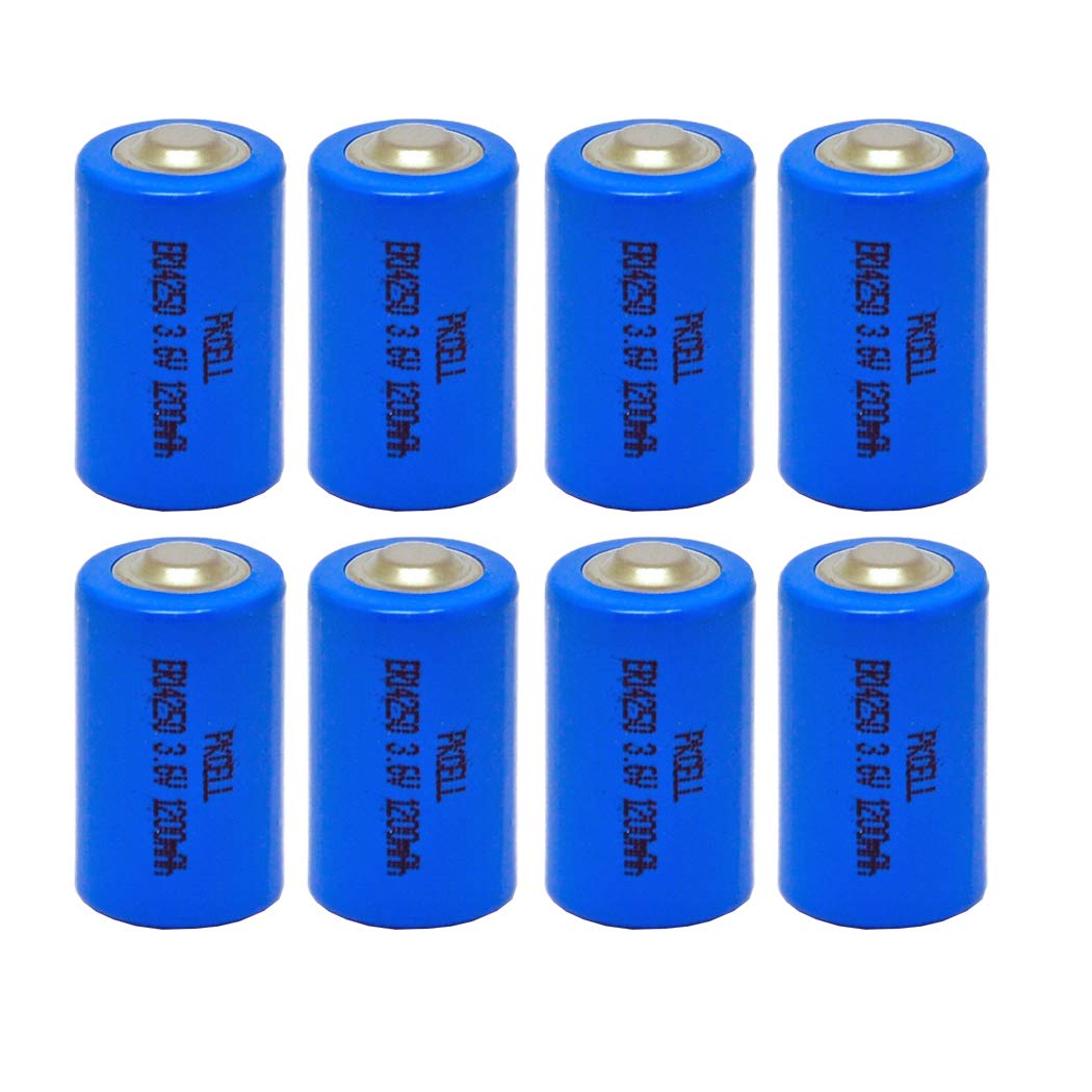 1/2AA Size ER14250 3.6v Battery Lithium-SOCL2 Capacity 1200mah Count :Pcs (4) PKCELL