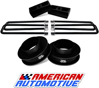 1999-2007 Silverado Lift Kit 2WD 3 Front Spring Spacers 3 Rear Blocks Made in USA Steel Road Fury TIG Welded