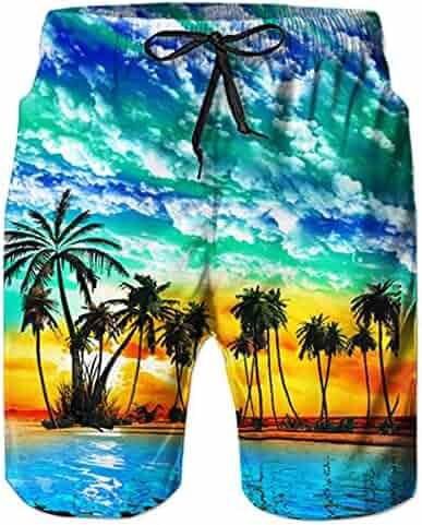 5fe2f790de TUONROAD Mens 3D Printed Funny Swim Trunks Quick Dry Beachwear Sports  Running Swim Board Shorts Mesh