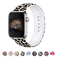 MITERV Compatible with Apple Watch Band 38mm 40mm Soft Silicone Fadeless Pattern...