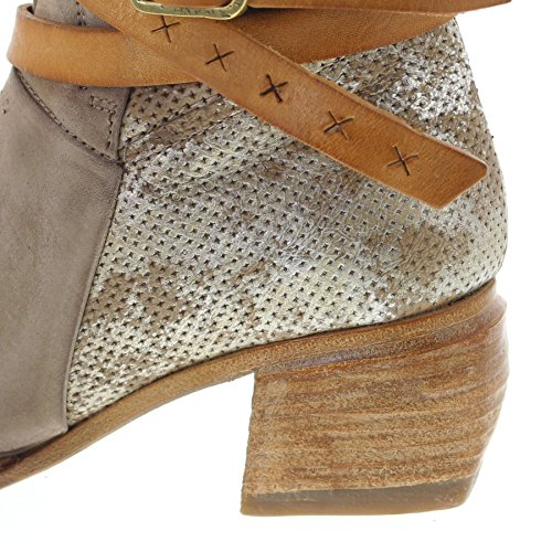As98 638206 Stivaletto In Pelle Rino Per Donna Stivaletto Marrone Moda Naturale Rino