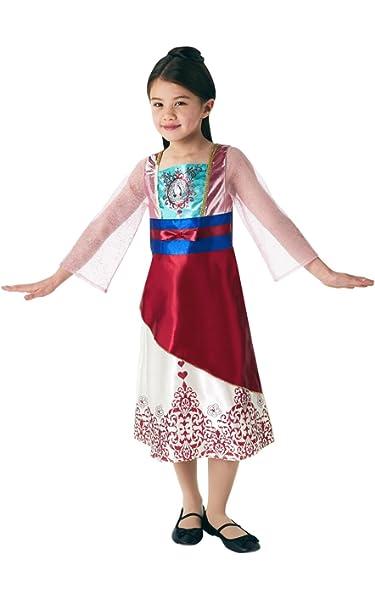 Rubies 640728S Disfraz de princesa Disney Mulan Gem, Niñas ...