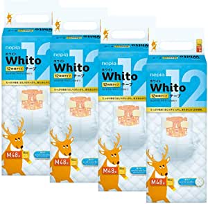 Nepia Whito Tape M48 12H, M, 192 count (Pack of 4)
