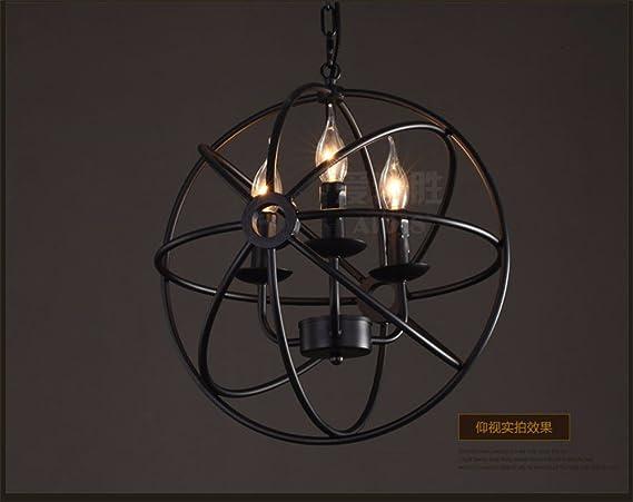 Plafoniere Soffitto Industriali : Jhyqzyzqj lampadari lampade a sospensione plafoniere il nero di