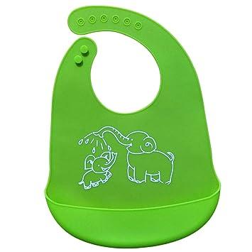 0f5011246f14e8 AMAA 食事用スタイ ベビー エプロン 象柄 赤ちゃん よだれかけ ビブ キッズ 前かけ 男の子 女の子