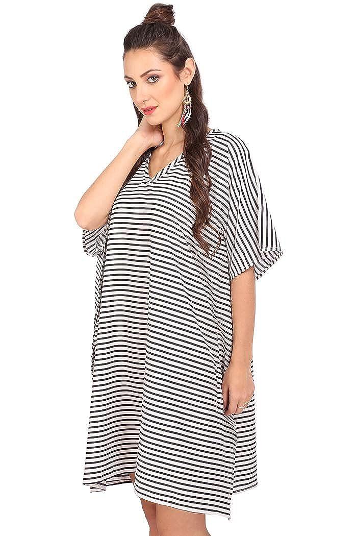 1a4f2169a015 Miss Lavish Women s Kaftan Tunic Kimono Dress Summer Evening Plus Size  Beach Cover up 10- larger image