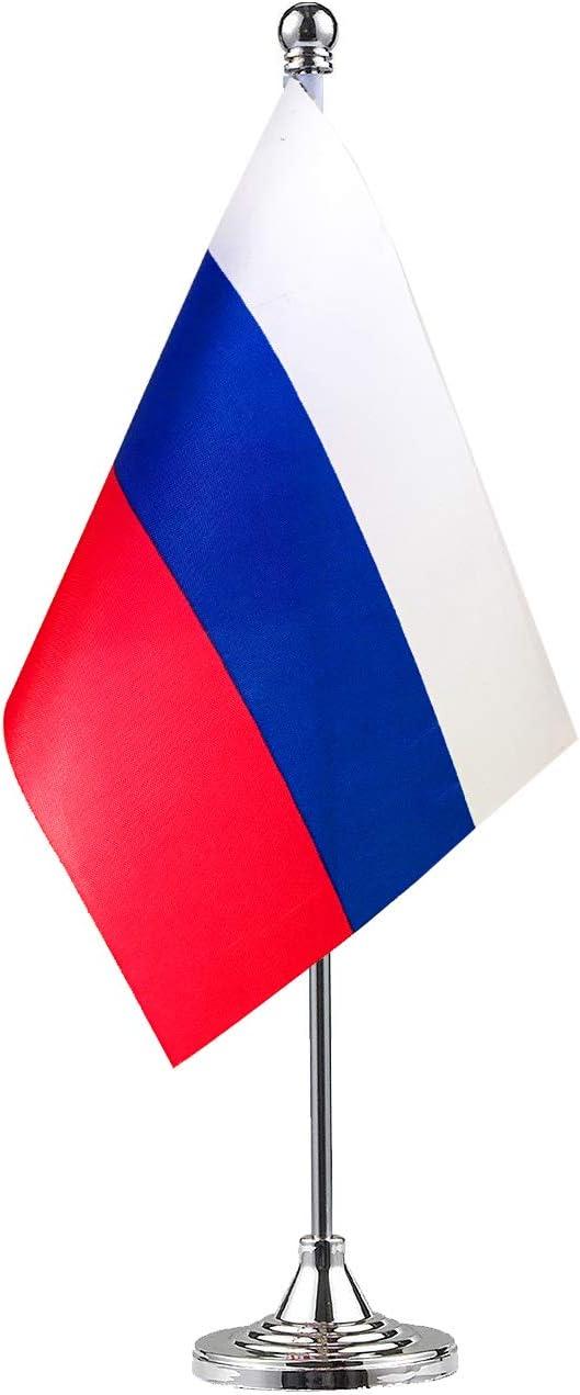 GentleGirl Russia Flag Russian Flag Table Flag,Desk Flag,Office Flag,International World Country Flags Banners,Festival Events Celebration,Office Decoration,Desk,Home Decoration