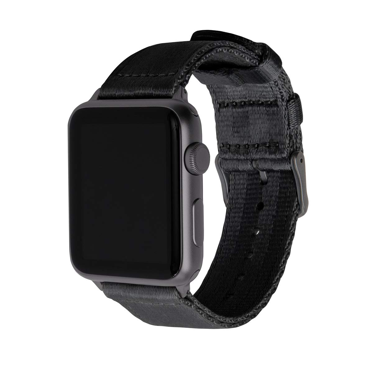 Archer Watch Straps Seat Belt Nylon Watch Bands for Apple Watch (Black, Space Gray, 42mm) by Archer Watch Straps
