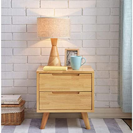 Amazon.com: Exing Bedside Table, Solid Wood Bedroom Furniture Home ...