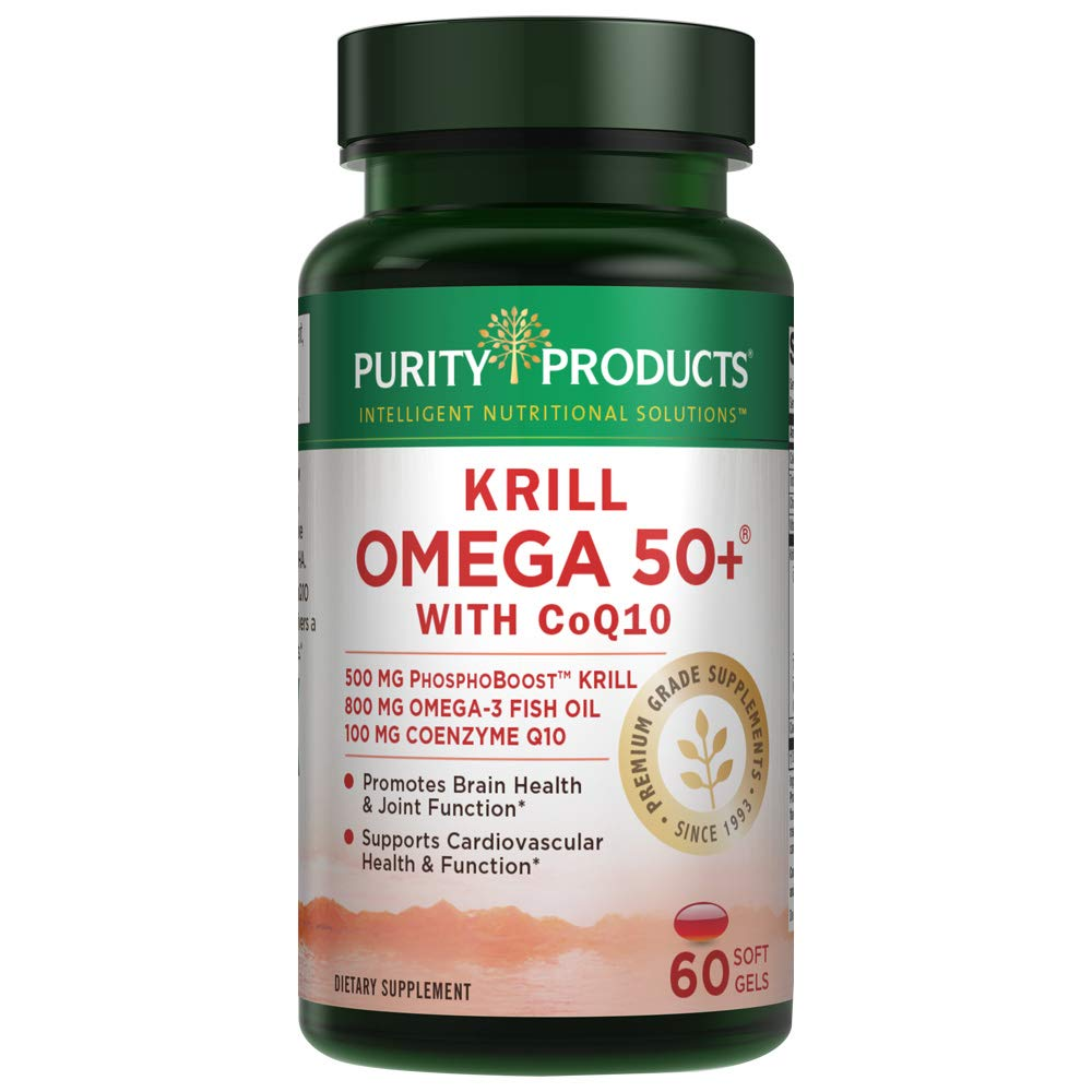 Krill 50+ w/ CoQ10 - Purity Products - 60 SoftGels by Purity Products