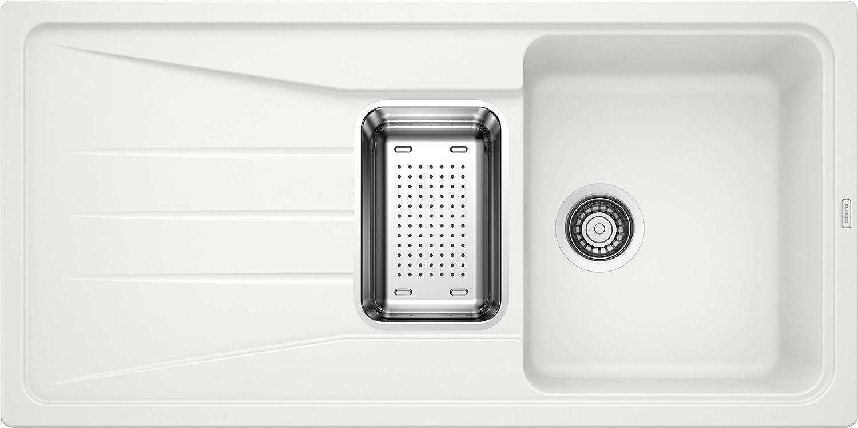 Gris anthracite Blanco Sona 6/S Silgranit PuraDur /Évier de cuisine encastrable et r/éversible 519665 blanc