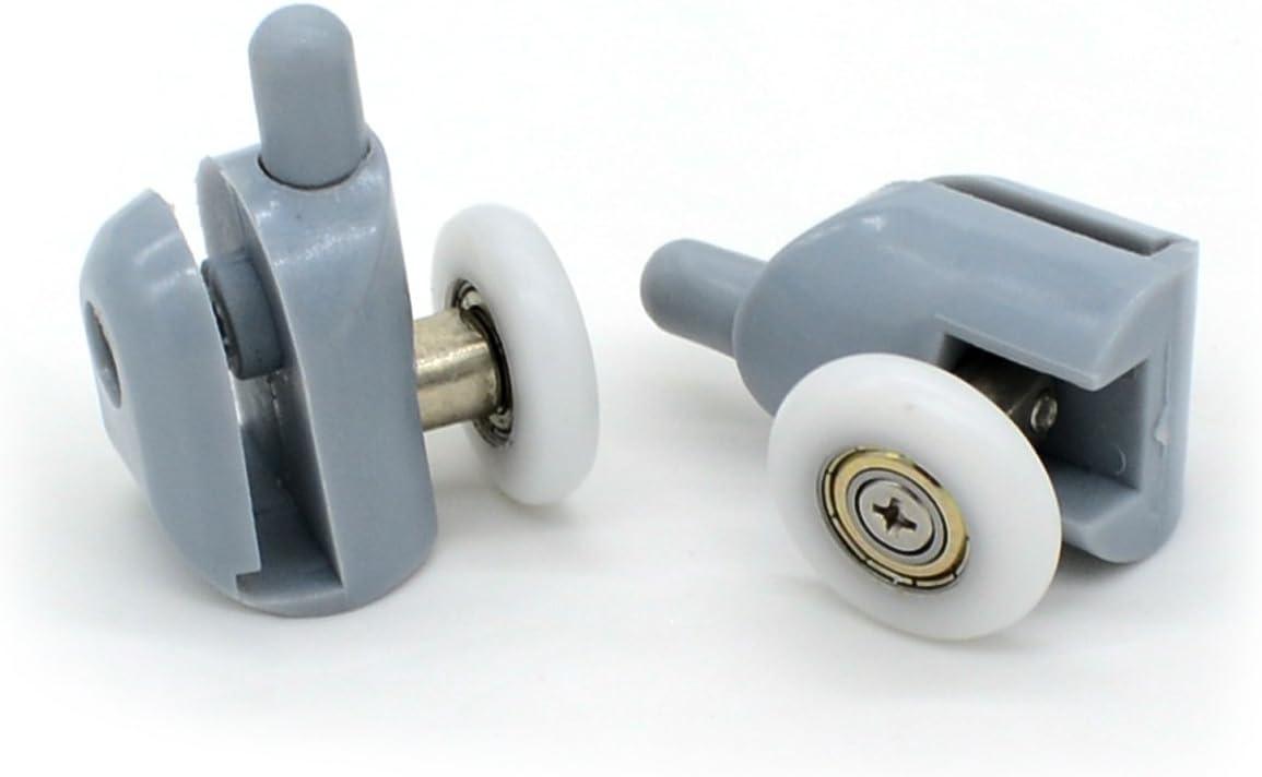 8 rodamientos para raíles de mampara de ducha, 20-27 mm.: Amazon ...