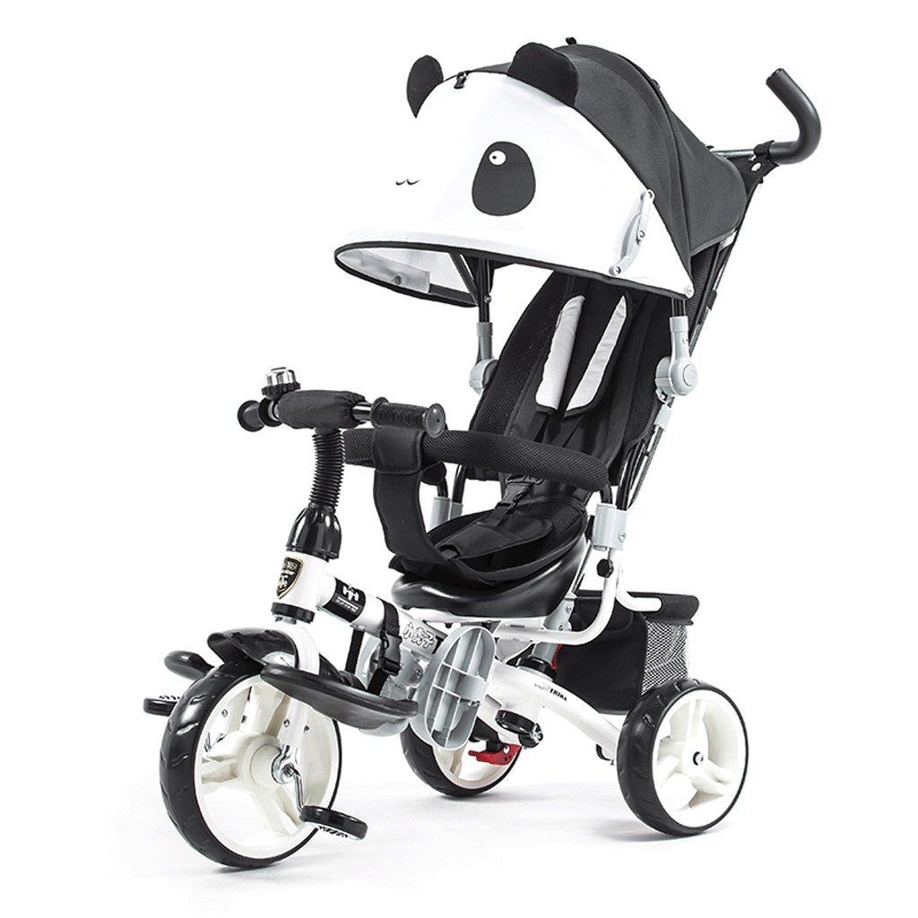 Fenfen Children 's Tricycle 1 – 6年古い自転車ベビーベビーカー子供の自転車タイプ漫画、ブラック、ホワイト、980500910 MM B07C6BR1NH