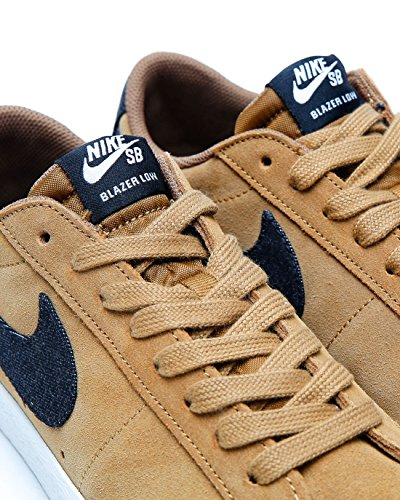 Nike SB Blazer Low Schwarz Leder/Wildleder Sneaker Braun (Golden Beige/Sail/Gum Light Brown/Black)