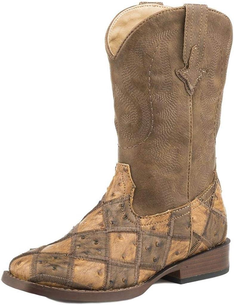 Roper Big Kids Bird Blocks Square Toe Boots