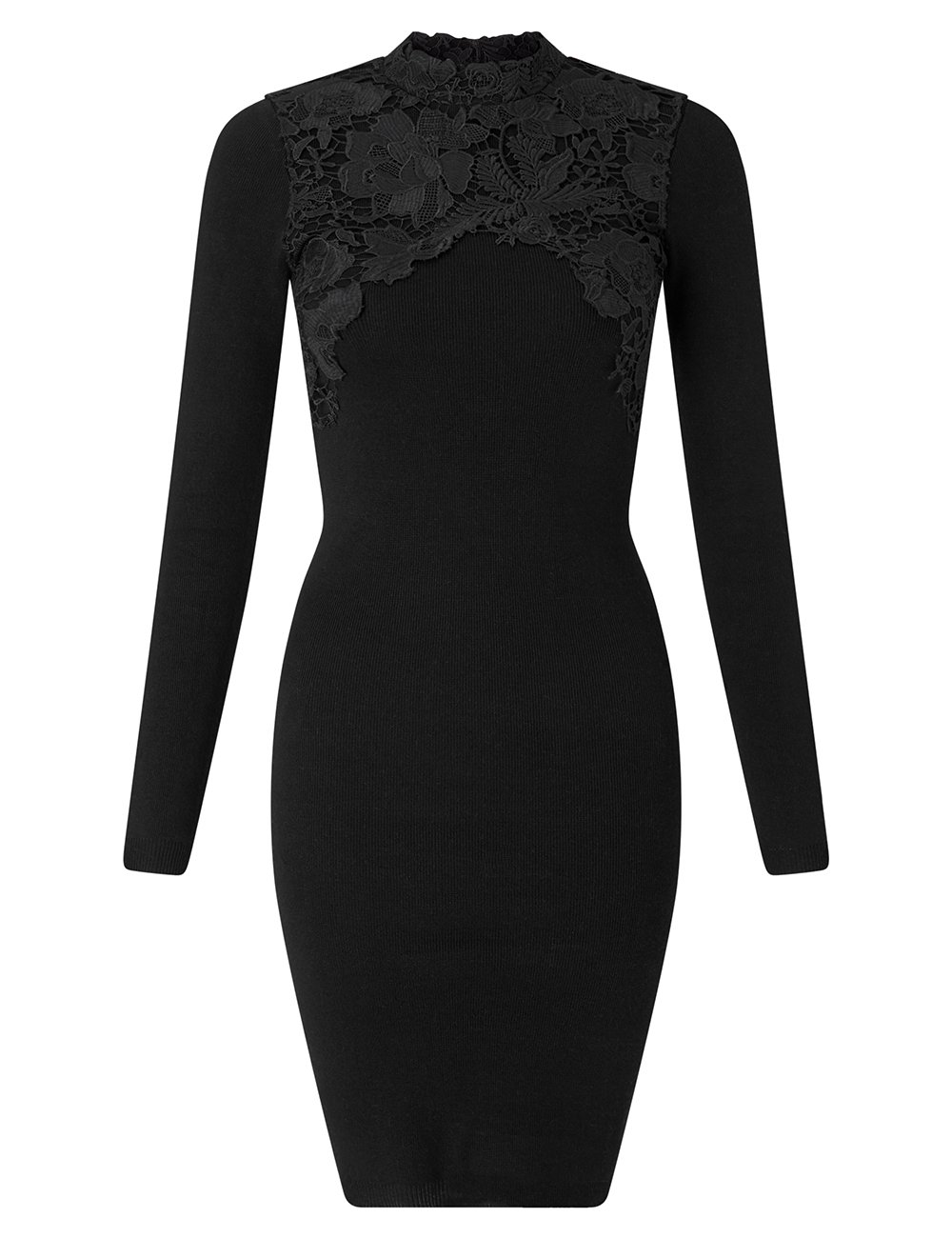 LIPSY Womens Lace Appliquà Dress Black US 10 (UK 14) by LIPSY (Image #2)
