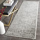 Safavieh Adirondack Collection ADR103B Silver and Ivory Modern Distressed Runner (2'6″ x 6′) Review