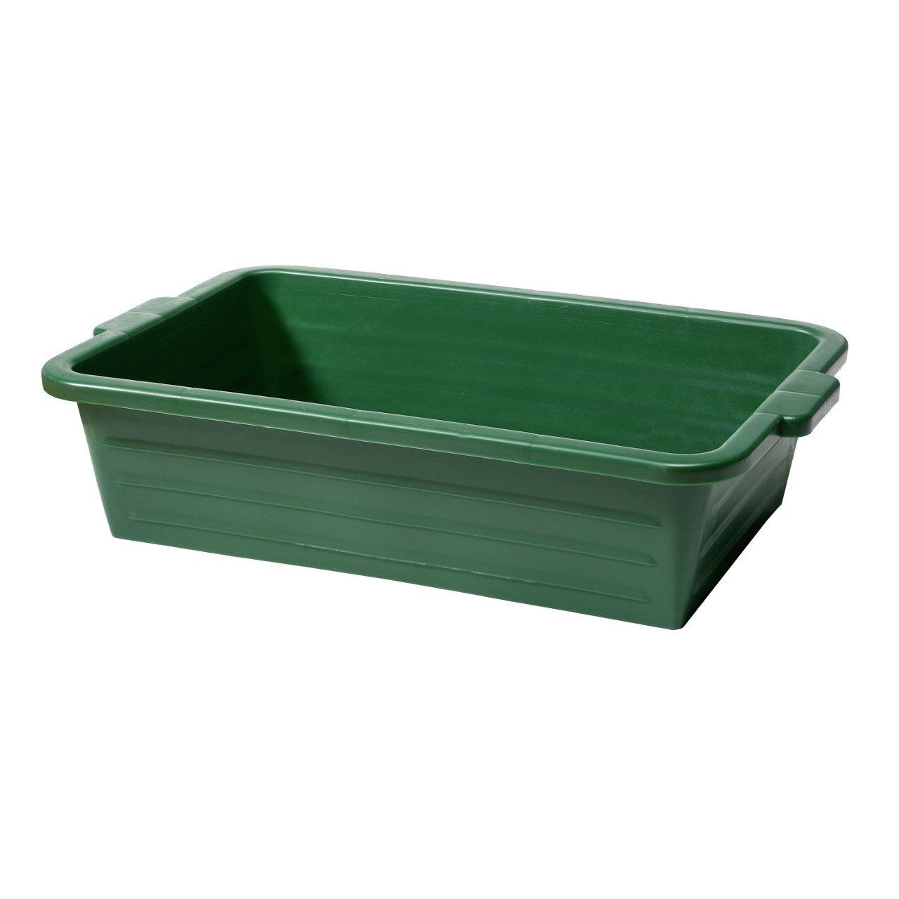 Cubeta porta caza, cubeta universal de plástico resistente y estable, color verde, apilables con asa Waffenpflegewelt
