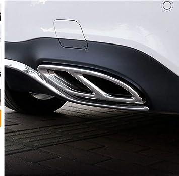 Pot d/échappement en acier Coque Compatible avec Mercedes Benz GLC Classe E C207 Coup/é 14-17 Couleur : Argent Garniture de Pot dEchappement 1 paire