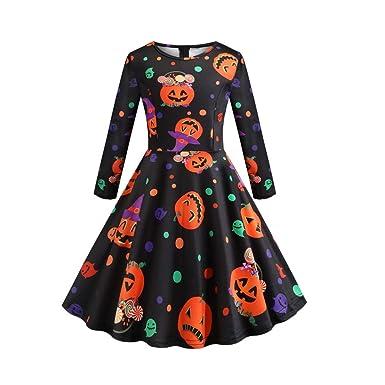 FRAUIT Vestido Invierno Niña, Vestidos de Fiesta Mujer Halloween ...