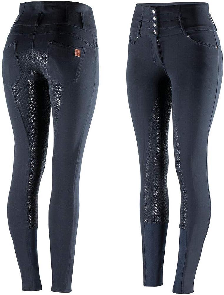 HORZE Pantalones de Montar Tara para Mujer con Asiento Completo y Cintura Extra Alta, Todas Las Tallas