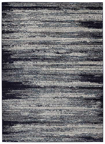Bergen Home Décor UNQ8065-7X10 Contemporary Modern Stripes Design, 6'7
