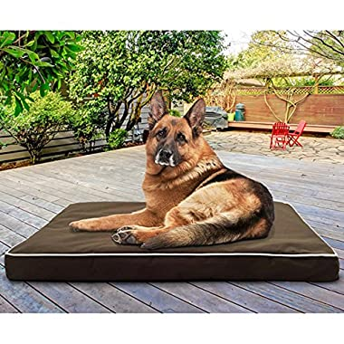 Therapeutic Dog Bed Extra Large Deluxe Comfort Indoor/outdoor Brown - Great for Dogs with Arthritis or Bone Problems - Waterproof, Washable Cover Jumbo