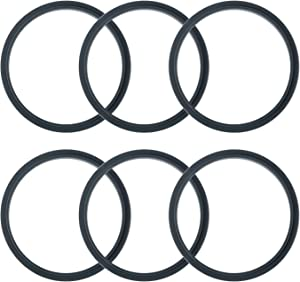 Pack of 6 Replacement Parts Gaskets with Lip Compatible with 900w NutriBullet Extractor Blender