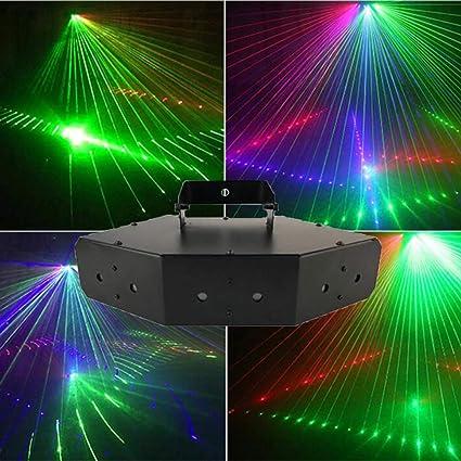Luces de discoteca LED, luces de escenario para DJ, proyector ...