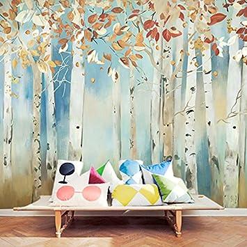 Fantastisch HUANGYAHUI Nordic Holz Aquarell Wallpaper Schlafzimmer Wohnzimmer  TV Kulisse Wallpaper Abstrakte Malerei Custom Wandbild Tapeten