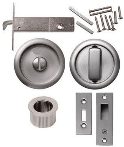Marca nueva cerradura para puerta de baño deslizante para inodoro con moneda liberación redondo acero inoxidable