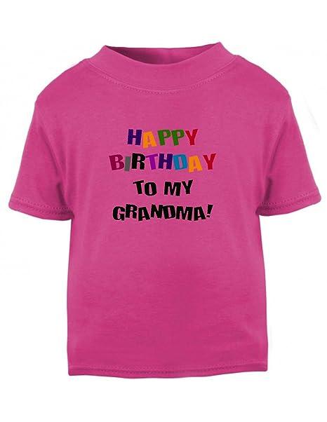 Speedy Pros Happy Birthday To Grandma Toddler Baby Kid T Shirt Tee Hot Pink