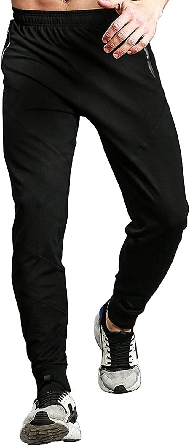 Amazon.com: TBMPOY Men's Running Pants Athletic Sweatpants with Zipper Pockets: Clothing