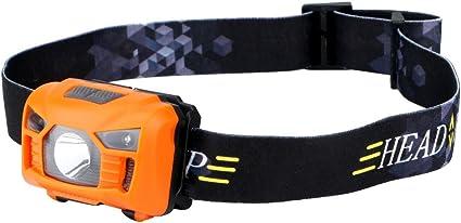 la p/êche mains libres pour le camping la lecture la r/éparation de voiture /étanche l/équitation la course la chasse Lampe frontale /à LED COB ultra lumineuse rechargeable par USB