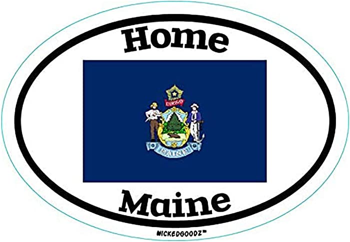 Top 9 State Of Maine Home Decal