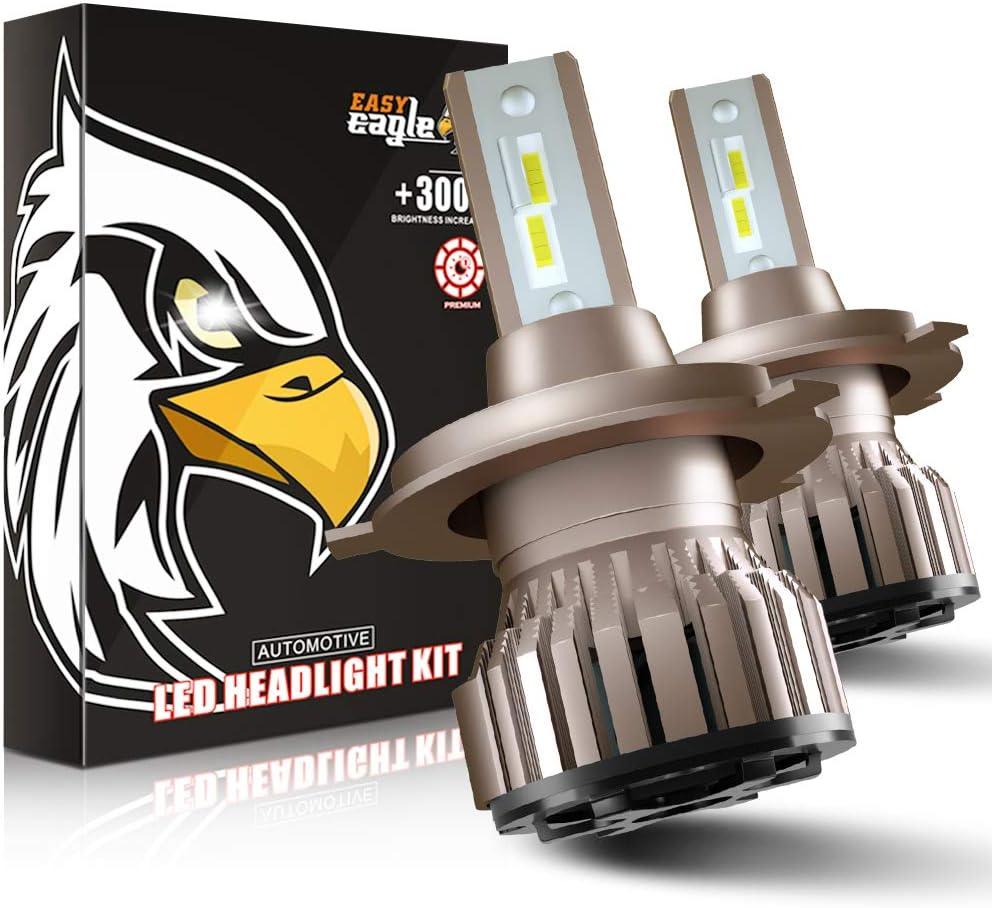 H4 LED 10800LM Bombillas para Montaje de Faros Delanteros de Coches, 12V, 6000K