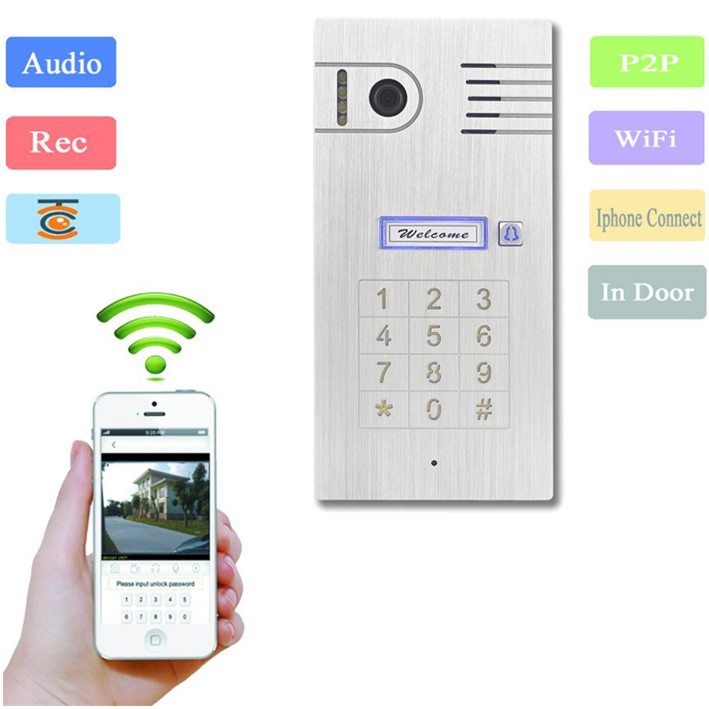 Global Video Door Phone Doorbell Touch Screen Ip Iphone Chime Wiring Diagram Intercom System Remote Control By Smartphone Iso Android Camera Photo
