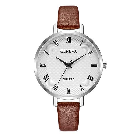Cuero Reloj De Pareja, Aobuang Reloj Unisex Relojes Mujer Hombre ...